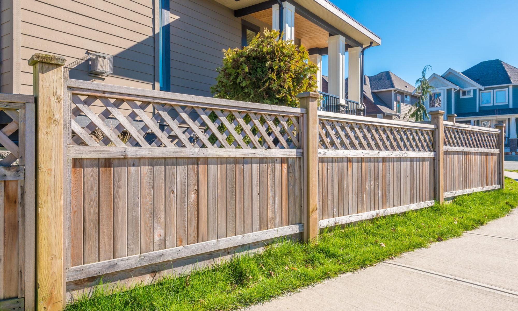 types clôtures bois