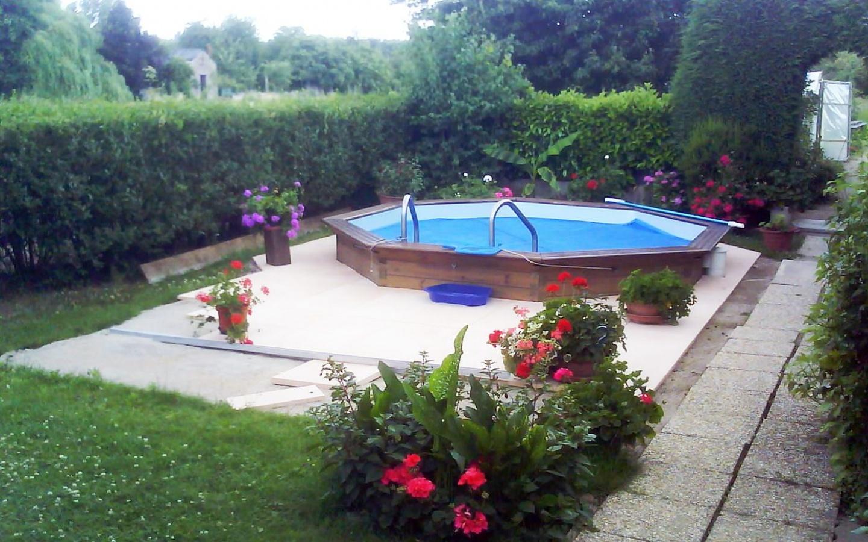 matériaux piscine semi enterrée